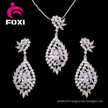 Woman Fashion Gold Filled Necklace Earring Jewelry Set