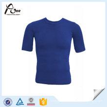 T-shirt sans couture de gymnastique de sport d'homme de vêtements de sport