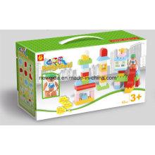 Bloques de construcción de construcción Juguete de niños con caja de ventana