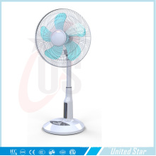16 Inch Solar Plastic Stand Fan, Rechargeable LED Fan (USDC-463)
