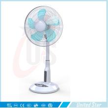 16 Inch Solar Plastic Stand Fan, Rechargeable LED Fan (USDC-463)