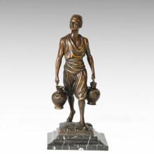 Eastern Life Statue Kettle Farmer Bronze Figure Sculpture TPE-392