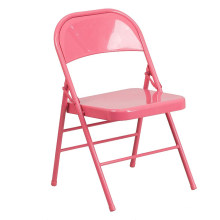 High Quality Red Folding Camping Steel Sheet Chair For Outside