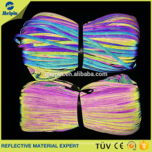 Manufacture Good Price High Visibility Good Quality Reflective PVC core piping ribbon for Clothing and Bags