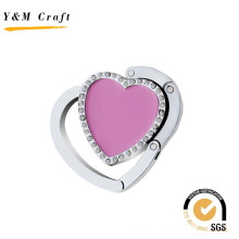 Promotional Gift Foldable Purse Metal Heart Blank Bag Holder