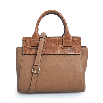 ELIM & PAUL Messenger Bag Large Tote Bull Leather Femme