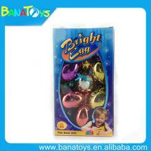 Huevo plástico de las bolas de la Navidad del chapado en oro divertido