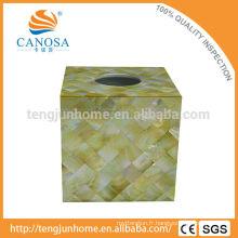 Golden Lip Mère de Pearl Shell Tissue Box for Home Decor