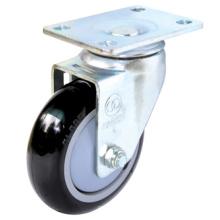 Roulette PU PU pivotante (noir)