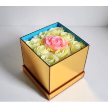 Acryl Gold Spiegel Geschenkbox für Blumen