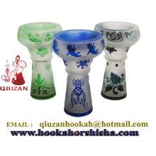 Spécial conçu Multicolor narguilé de grande tête en céramique avec impression