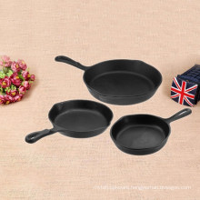 3 pieceshot sale in USA cast iron non enamel frying pan set