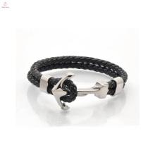 2017 Newest Fashion Design Anchor Leather Bracelet