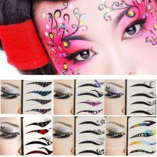Venda quente moda arte beleza cara equipamento olho olho de arte adesivos removível