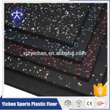 Plancher en caoutchouc antidérapant qui respecte l'environnement de vente en gros de Croosfit en caoutchouc d'usine / plancher en caoutchouc de gymnase