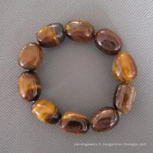 Bracelet en pierre à oeil tigré (BP131)