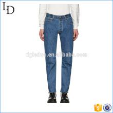 Azul clássico lavado homens esporte calças jeans skinny calças jeans de alta qualidade