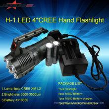 Batería recargable del poder más elevado de Jexree 3500lm 4 * LED 4 * 18650 batería