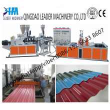 880mm Width PVC Corrugated Roofing Sheets Plastic Extrusion Machine