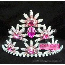 Color alibaba joyería china joyería rosario flor tiara