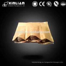 El nuevo estilo modifica el ziplock para requisitos particulares de la impresión para arriba bolso de papel de Kraft