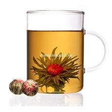 Hua Kai Fu Gui (chá de florescência branca do pêssego do jasmim) PADRÃO DA UE