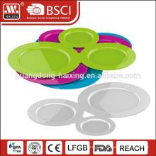 3 Stück Kunststoff Suppenteller mit Becherhalter