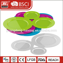 3 pièces assiette à soupe en plastique avec porte-gobelet