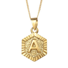 Custom Fashion A-Z Letter Gold Jewelry Set Stainless Steel Jewel Necklace 18 K Plated Pendants Jewelry
