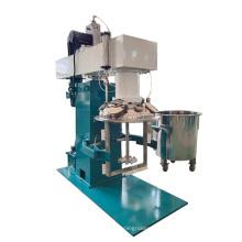 Dual-shaft mixer hydraulic lift for paint mixing machine