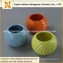 Украшения для дома Цветные керамические горшки для цветов, Цветная керамическая банка (домашняя отделка)
