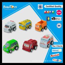 Newest oem pull back mini cartoon bus toy