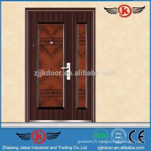 JK-S9058 portes doubles extérieures en acier à usage professionnel