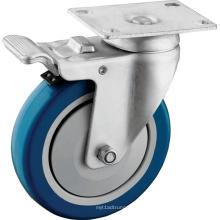 PU-Radrollen für mittlere Beanspruchung mit Vollbremse