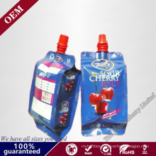 New Products Custom Printing Reusable Doypack Drink Child Milk Tomato Sauce Pouches Packaging Plastic Suction Nozzle Bag