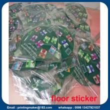Signes adaptés aux besoins du client d'autocollant de plancher avec la découpe
