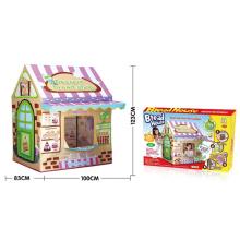 Дети играют в палатку на открытом воздухе игрушки (H9224046)