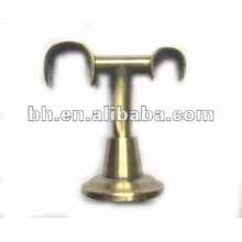 CB022 beautiful and opic medal double curtain rod brackets/ holders/crutch/stand for curtain rod 25mm and windows & home decor