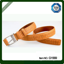2015 high fashion mens genuine leather belt spanish italian leather elegant texture leather