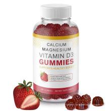 Pectin based Dietary supplement calcium magnesium vitamin d3 gummies for Bone health