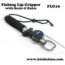 Poignée à lèvres de pêche en acier inoxydable avec échelle et règle