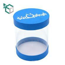 Blaue PVC-Fenster-Geschenkboxen für Papierdeckel