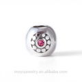 925 sterling silver charm bead for DIY brand bracelet or bangle