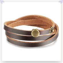 Accesorios de moda cuero pulsera joyas de cuero (LB427)