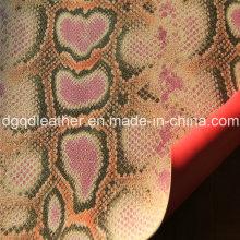 Cuero de zapatos de PU de doble cara (QDL-SP028)