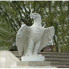 Escultura de decoração de jardim de animais Escultura de águia de pedra em tamanho natural