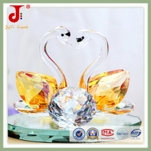 Amber High Quality Crystal Swan (JD-CW-105)