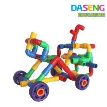 Обучающая обучающая игрушка пластиковые блокировочные трубки блокирует строительство трубы для детей