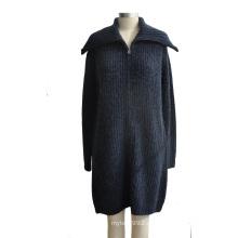 Caliente mezcla de lana de lana Merino Knitwear con botones