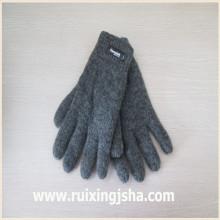 одноцветный вязаные шерстяные перчатки с изолирующие накладки